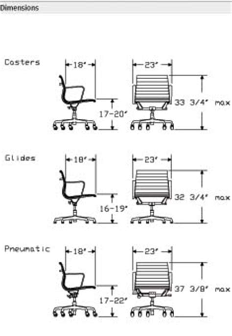 eames aluminum chair dimensions eames aluminum management office task desk chairs by