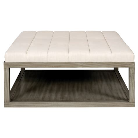 wood ottoman ellery 44 square wood ottoman luxe home company