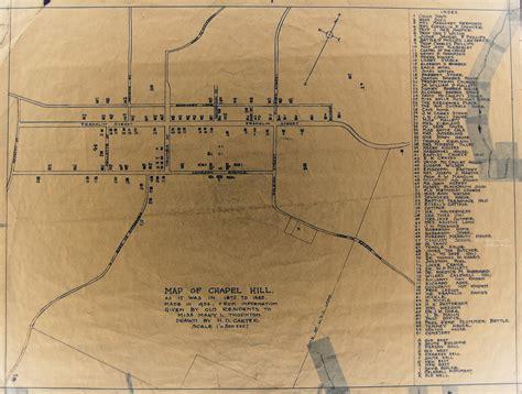 carolina map chapel hill orange county carolina historic information cache