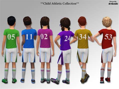 tsr sims 4 clothes sports artgeekaj s child athletic school sports team t shirt