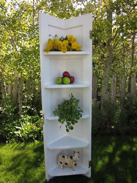 Corner Shelf Made From Door by Turn An Door Into A Corner Shelf Diy Projects For