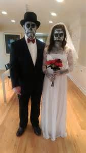 halloween costumes bride and groom diy halloween costume skeleton bride and groom