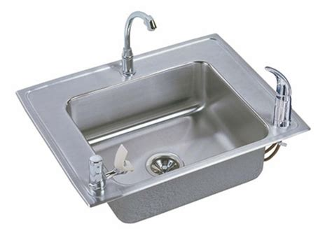 stainless steel drop in utility sink elkay classroom single bowl drop in self stainless
