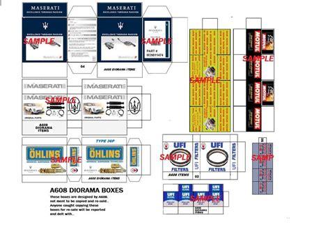printable diorama accessories 1 18 diorama maserati box set 27 for shop garage