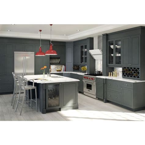 gray kitchen cabinet doors fabritec ready to assemble 30x34 5x24 5 in buckingham 2