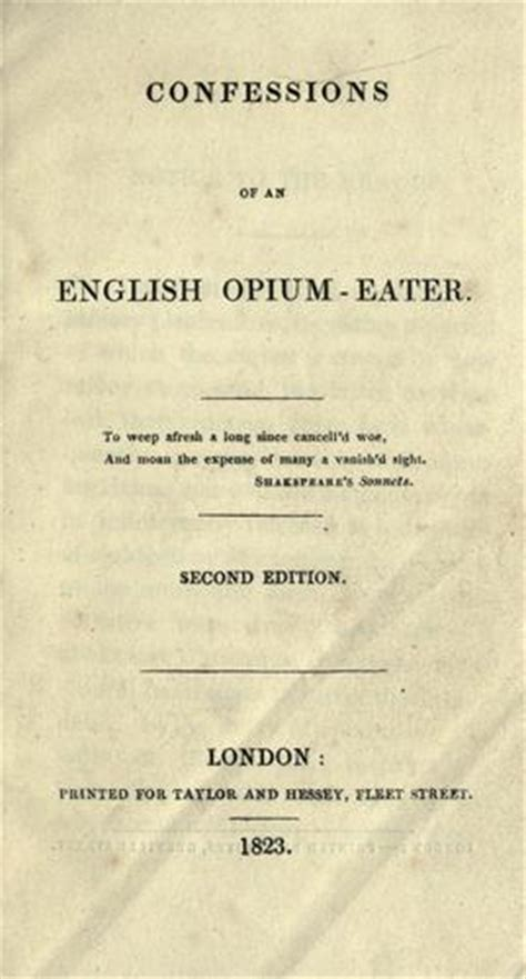 confessions of an opium eater wikipedia the free encyclopedia confessions of an english opium eater wikipedia