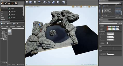 udk 4 tutorial translucent water detail in unreal engine 4
