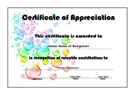 template for certificate of appreciation in microsoft word staff printable thank you certificate search results