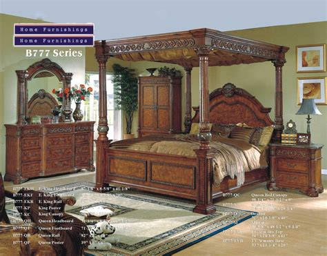 wood canopy bedroom sets king size canopy bed sets