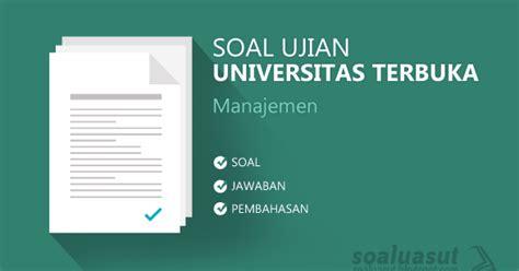 Modul Ut Manajemen Perilaku Organisasi soal ujian ut universitas terbuka manajemen lengkap dengan kunci jawaban