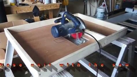 circular saw bench circular saw to table saw conversion by c u jmy youtube
