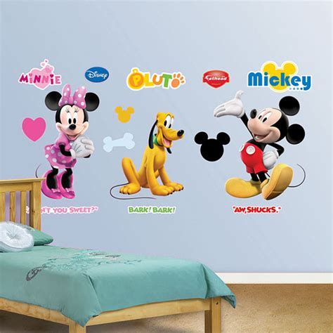 mickey mouse wall stickers mickey mouse clubhouse wall accents disney minnie pluto decor stickers decals ebay
