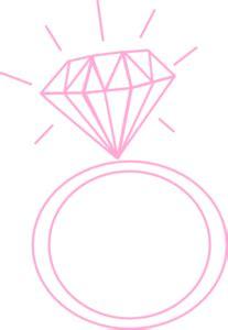 diamond ring pink clip art at clker.com vector clip art