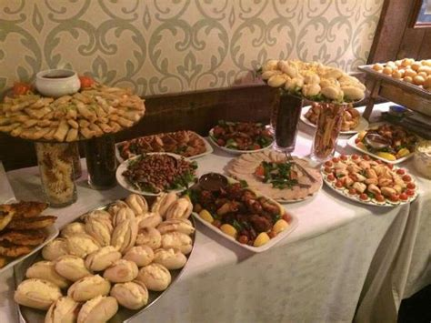 a buffet at the turks head to celebrate our 30th birthday