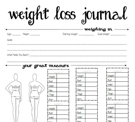 free printable weight loss journal free printable weekly planner for
