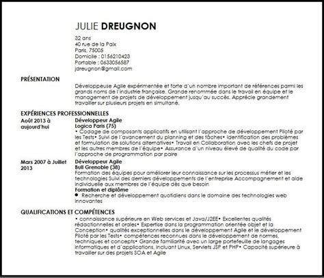 Business Resume Samples by Cv Developpeur Agile Exemple Cv Developpeur Agile