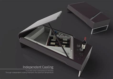Futuristic Coffee Table Futuristic Coffee Table That Is Inspired By Grand Piano Samsung Zipel Wine Refrigerator Table