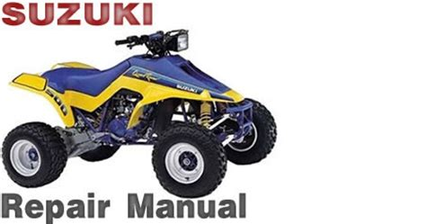 Atv Service Repair Shop Manuals Online Suzuki Lt500r