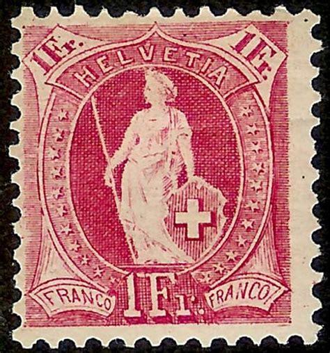 Schweiz Briefmarken Wert Die Stehende Helvetia