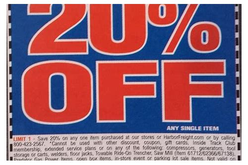 harbor freight coupon 20 off october