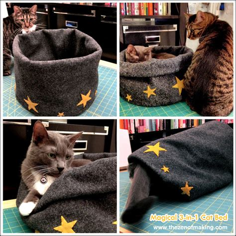 diy cat bed tutorial magical 3 in 1 cat bed the zen of making