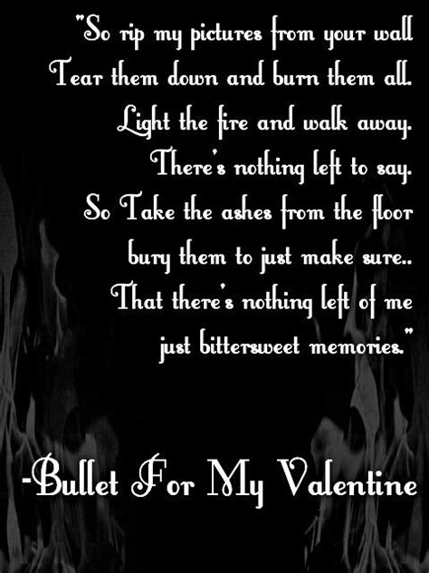 bullet for my lyrics venom quot bittersweet memories quot bullet for my lyrics