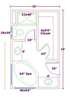 master bath floor plans no tub bathroom and closet floor plans plans free 10x16