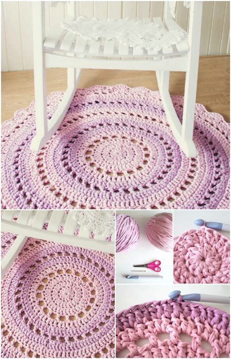 crochet rug diy 30 magnificent diy rugs to brighten up your home diy crafts