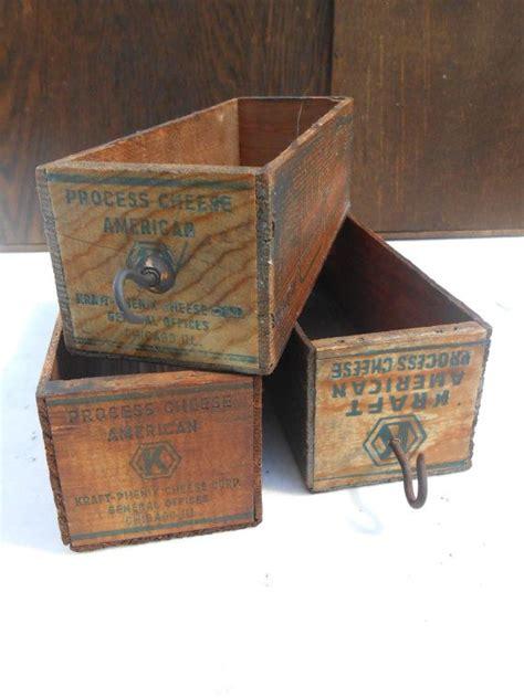 set   antique kraft american cheese boxes vintage