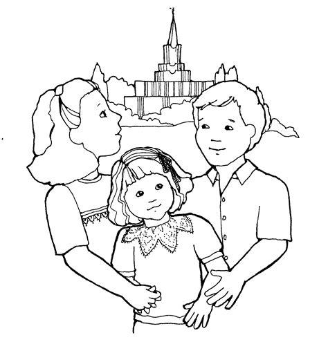 lds coloring pages of family lds family clipart clipart suggest