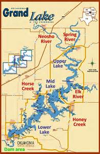 lake map of map of grand lake anglingauthority