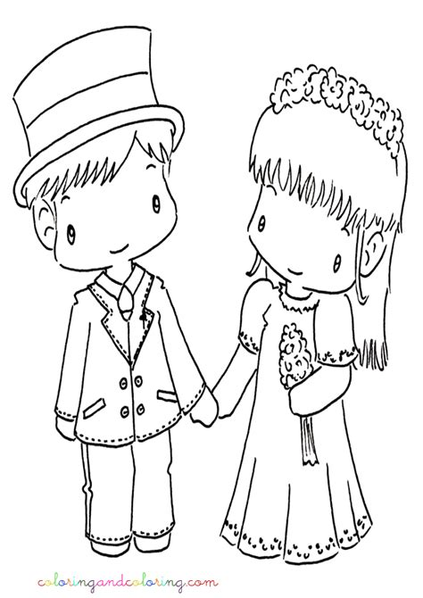 wedding couple coloring pages