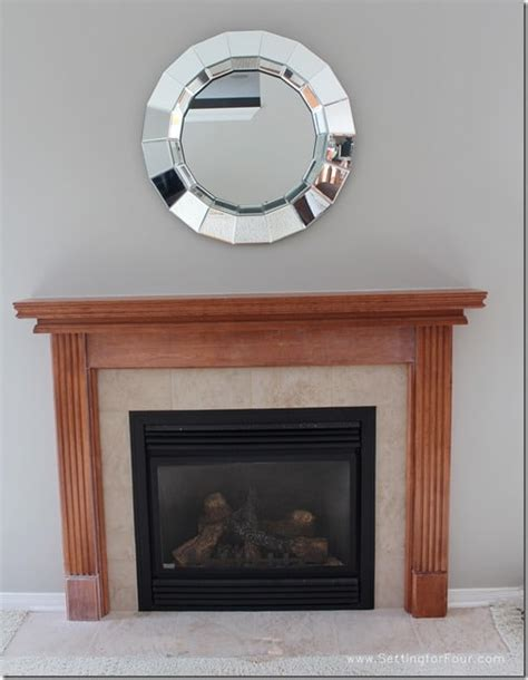 Paint Ideas For Small Living Room My Fireplace Mantel Reveal A Makeover With Paint