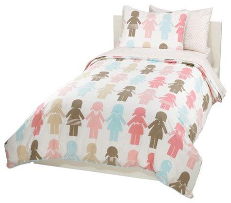 modern kids bedding paper dolls duvet set modern kids bedding by dwellstudio