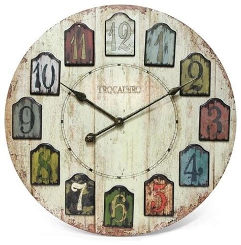 infinity instruments weathered plank wood wall clock large rustic wall clocks by