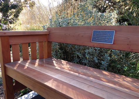 memorial garden benches honoring loved ones with a memorial bench support mcbg
