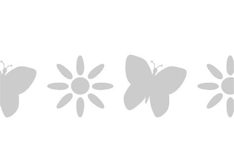 stencil fiori stencil greca con farfalla si alterna ad un fiore