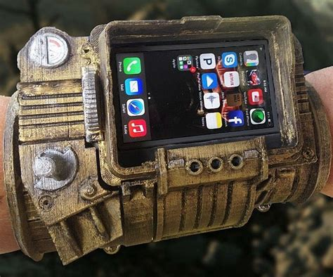 Fallout Pipboy 3000 Special A1317 Iphone 4 4s 5 5s 6 6s 6 P pip boy 3000 diy iphone pip boy fallout and fans