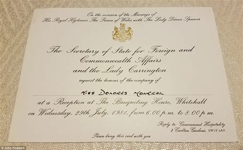 Charles And Diana Wedding Invitation princess diana fan has collection worth 500k in florida