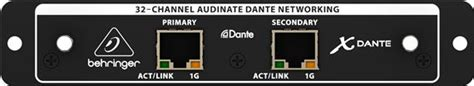 Behringer X Dante 32 Channel Dante Card Expansion Mixer Digital X32 behringer x dante x32 audinate dante expansion card