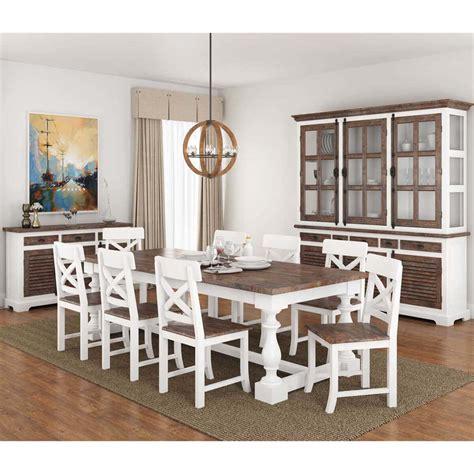 danville modern teak  solid wood  piece dining room set