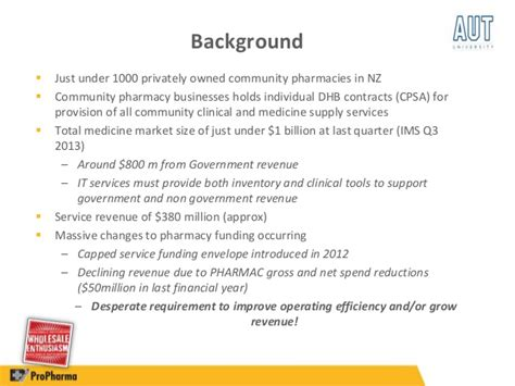 Mba Declining Funding by Community Pharmacy Owners And The Nzhit Plan