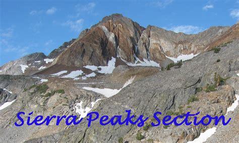 sierra peaks section sierra peaks section home page
