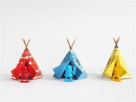 How To Make Paper Teepees - printable papercraft teepee handmade