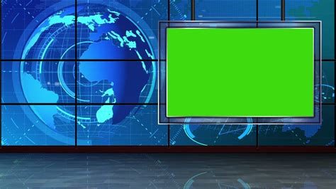 News 09 Broadcast Tv Studio Green Screen Background Loopable Motion Background Videoblocks Green Screen Templates