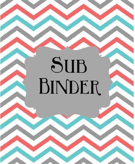 Tales Of Teaching In Heels Editable Sub Binder Free Substitute Folder Template