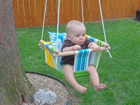 diy outdoor baby swing diy tree swing for a baby kidsomania