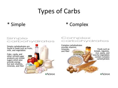8 types of carbohydrates one of the three energy providing nutrients ppt