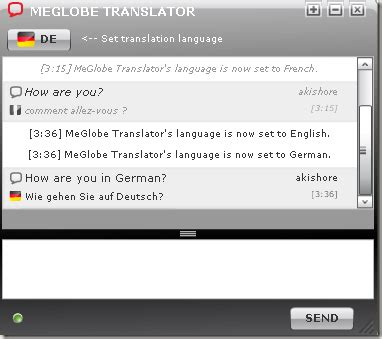 chat via instant message in 15 different languages using
