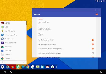 aptoide chromebook taskbar pc style productivity for android android apps